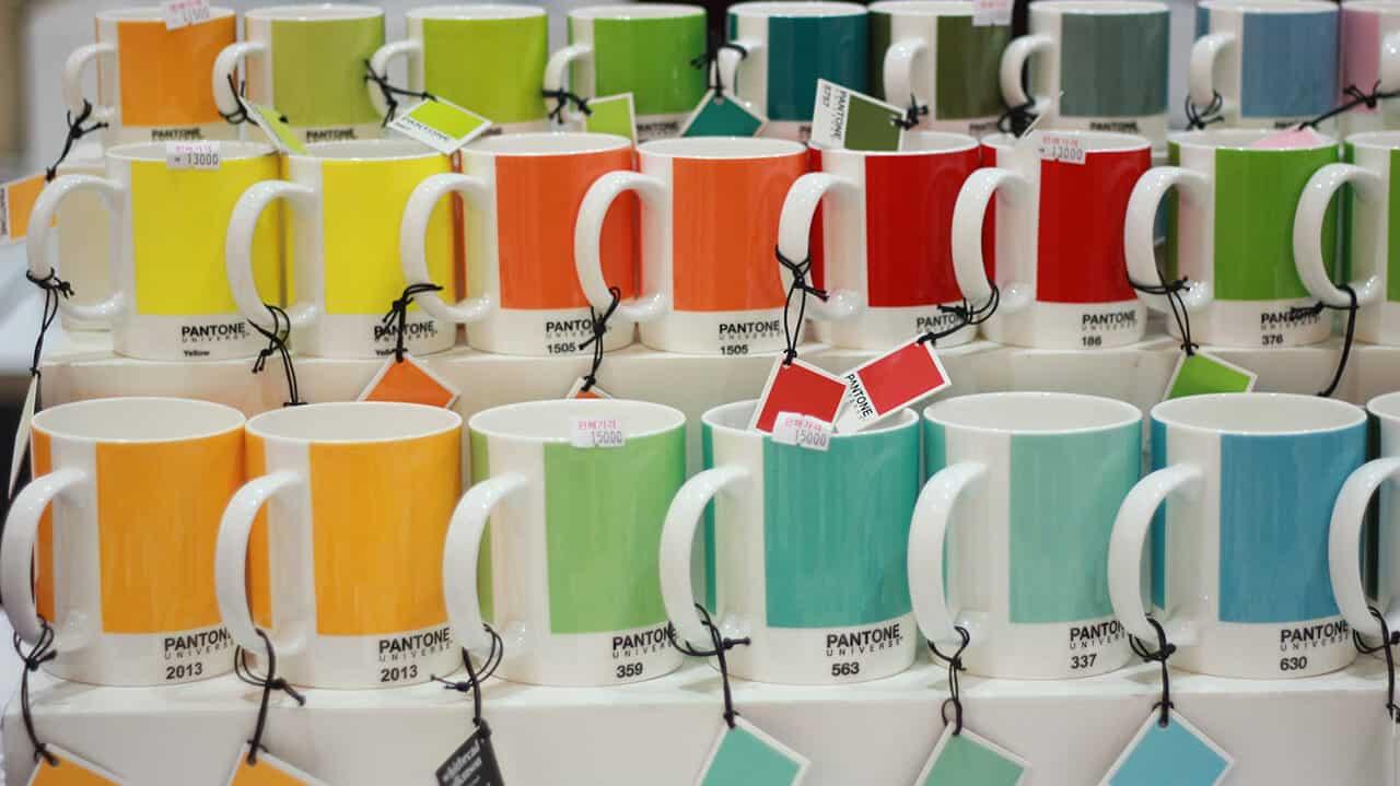 PANTONE® Farben Kaffeebecher Teebecher