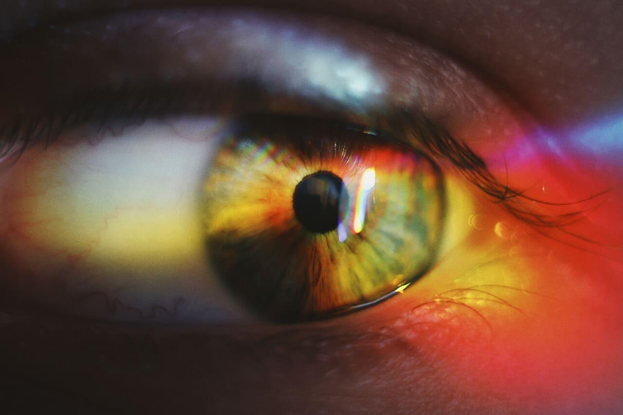 Farbverbindliche Drucke Auge Bunt