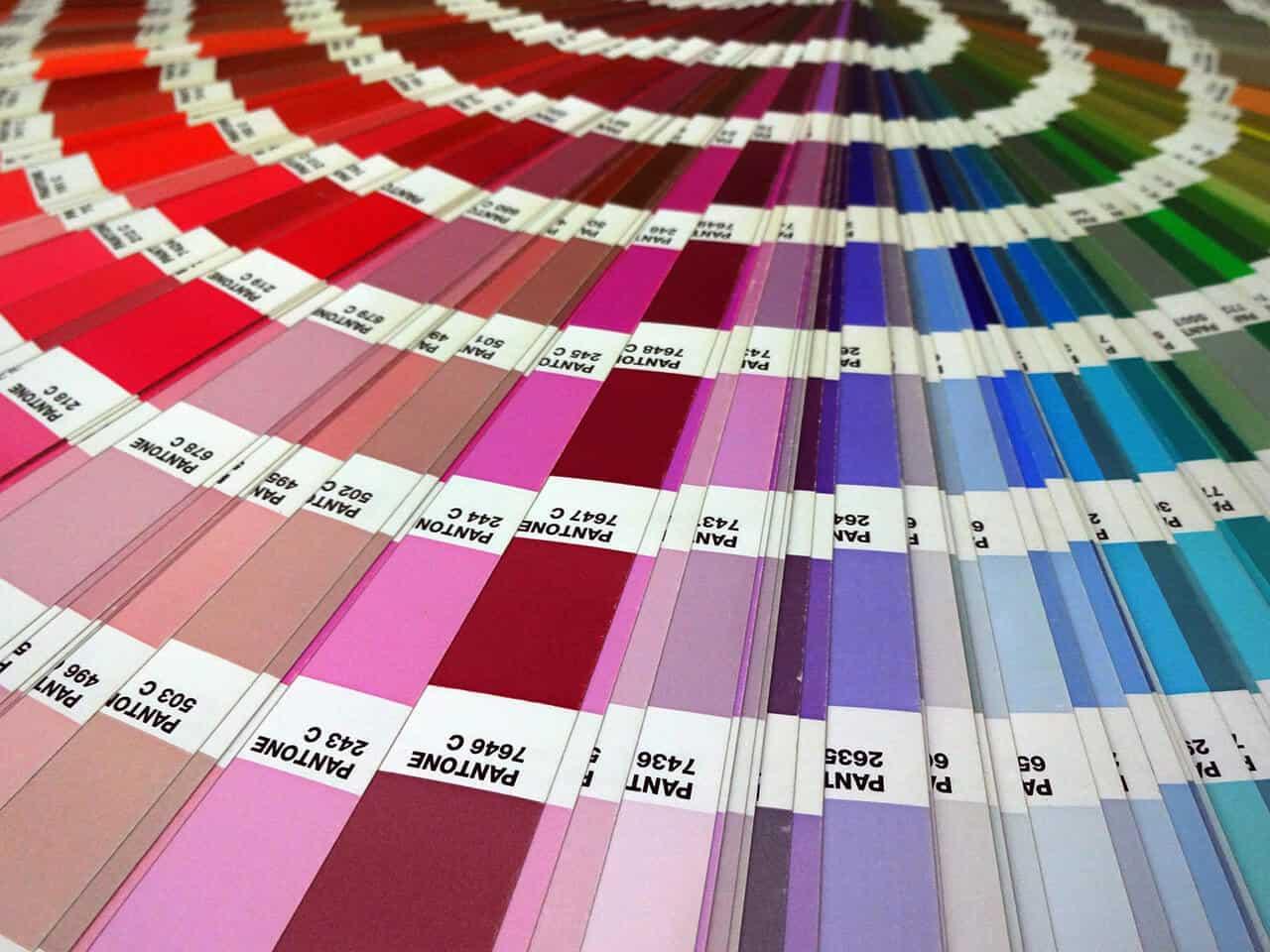 PANTONE® Farben Farbfächer nahaufnahme